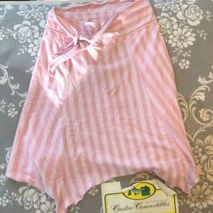 Gap Kids Pink Striped Skirt size xl